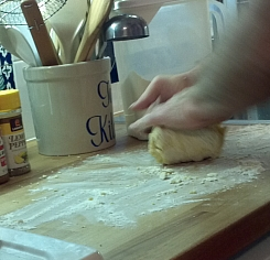 Knead until the dough holds together